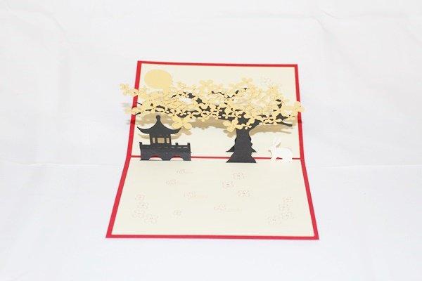 3D Pop Up Handmade Golden Trees Card US Seller Love Pop Card