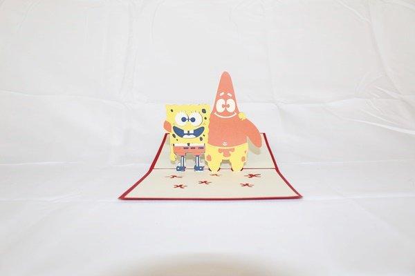3D Pop Up Handmade Birthday Spongebob Squarepants Card US Seller Love Pop Card