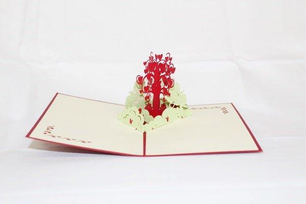3D Pop Up Handmade Love Heart Tree Card US Seller Love Pop Card