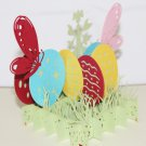 3D PopUp Handmade Easter Eggs with Butterflies Card US Seller Love Pop Card