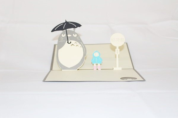 3D Pop Up Handmade Birthday Totoro Greeting Card US Seller Love Pop Card