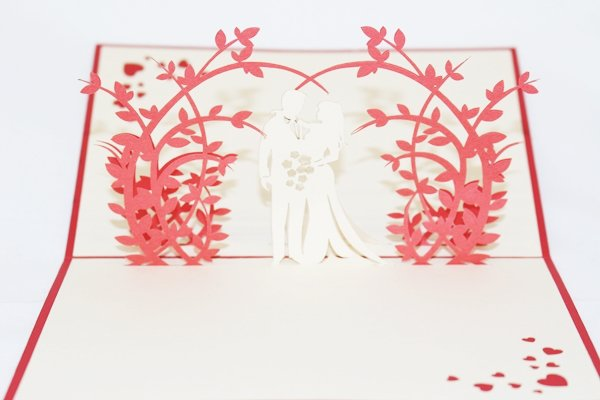 3D PopUp Handmade Wedding Couple  Card US Seller Love Pop Card