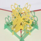 3D PopUp Handmade Yellow Flower Card US Seller Love Pop Card