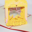 3D PopUp Handmade Ballerina Stage Dancer Card US Seller Love Pop Card