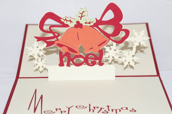 3D PopUp Handmade Merry Christmas Bells Card US Seller Love Pop Card