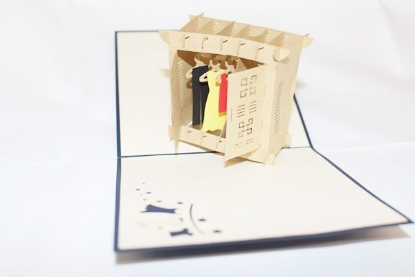 3D Pop Up Handmade Closet With Clothes Greeting Card US Seller Love Pop Card