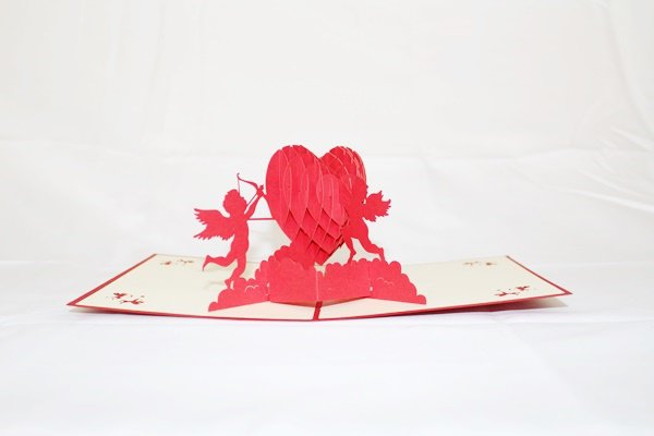3D Pop Up Handmade Love Cupids Card US Seller Love Pop Card