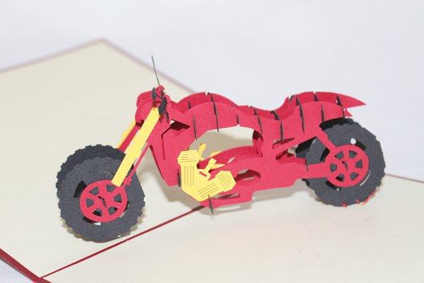 3D PopUp Handmade Motorcycle Card US Seller Love Pop Card