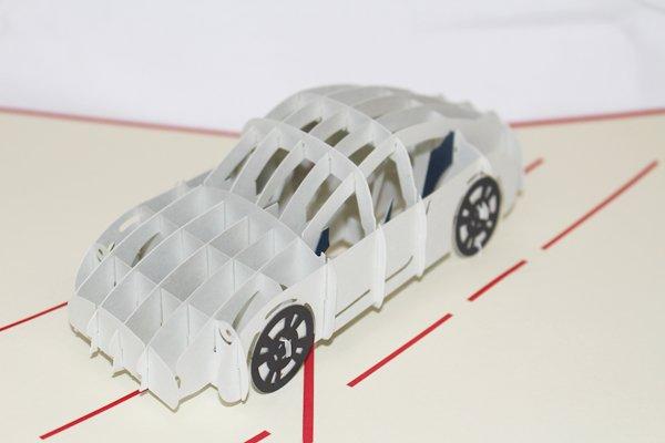 3D PopUp Handmade Happy Car Card US Seller Love Pop Card