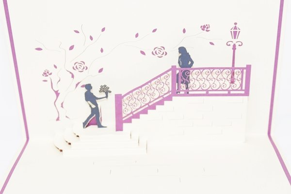 3D PopUp Handmade Marriage Proposal Card US Seller Love Pop Card