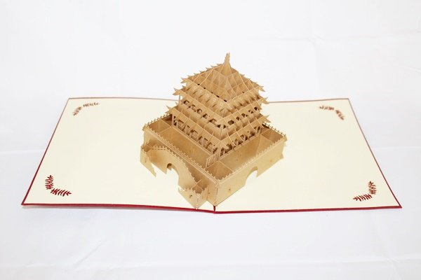 3D PopUp Handmade Chinese Temple Card US Seller Love Pop Card