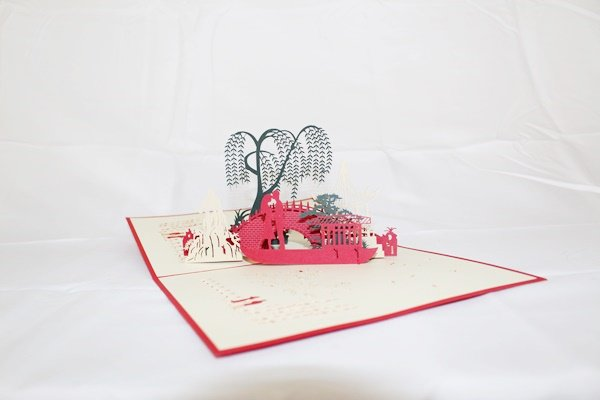3D Pop Up Handmade Walk in the Park Card US Seller Love Pop Card