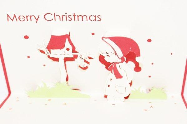 3D PopUp Handmade Merry Christmas Boy Card US Seller Love Pop Card