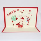 3D Pop Up Handmade Love Couple 2 Card US Seller Love Pop Card