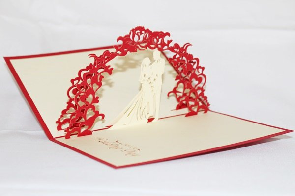 3D Pop Up Handmade Love Couple Wedding Card US Seller Love Pop Card