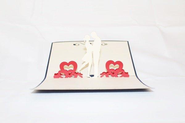 3D Pop Up Handmade Love Couple Dance 1 Greeting Card US Seller Love Pop Card