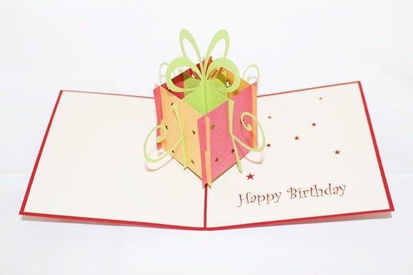 3D PopUp Handmade Birthday Gift Box Red Greeting Card US Seller Love Pop Card