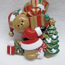 HOMCO Burwood Plastic - Christmas Bear Wall Plaque