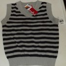 OneKid Boys Vest 3T Gray & Black Stripes