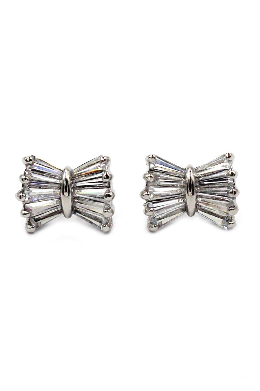 Loverly butterfly crystal silver earrings