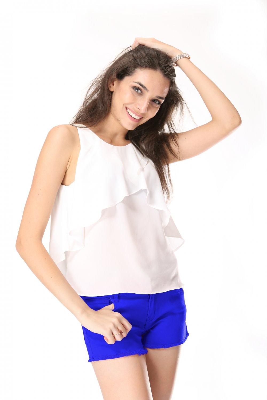 Summer cotton blue shorts