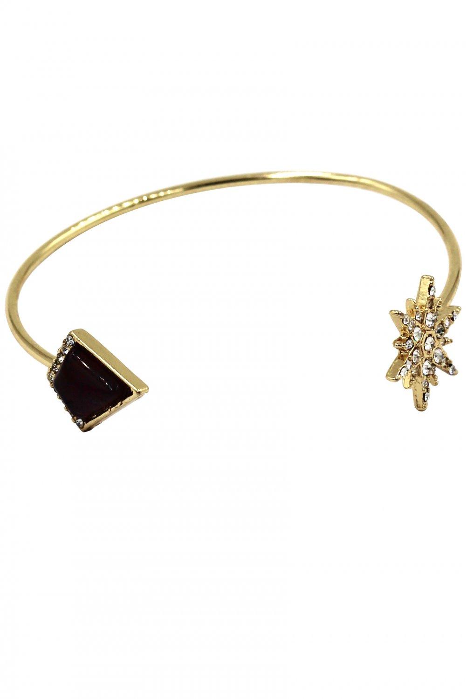 Fashion inlaid purple crystal golden bracelet