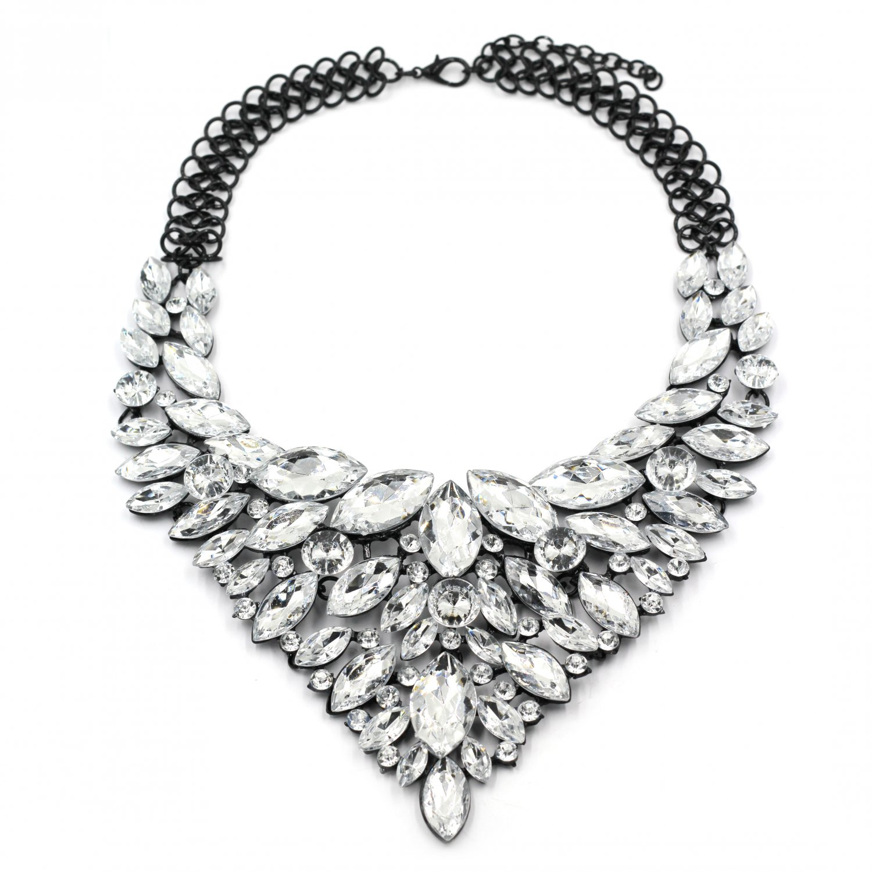 Fashion transparent crystal necklace