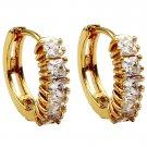 Fashion golden circle crystal earrings