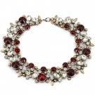 Elegant full red crystal necklace