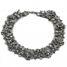 Fashion gray crystal necklace