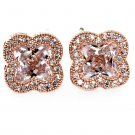 Stylish cherry crystal rose gold earrings