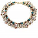 Fashion beautiful blue crystal necklace