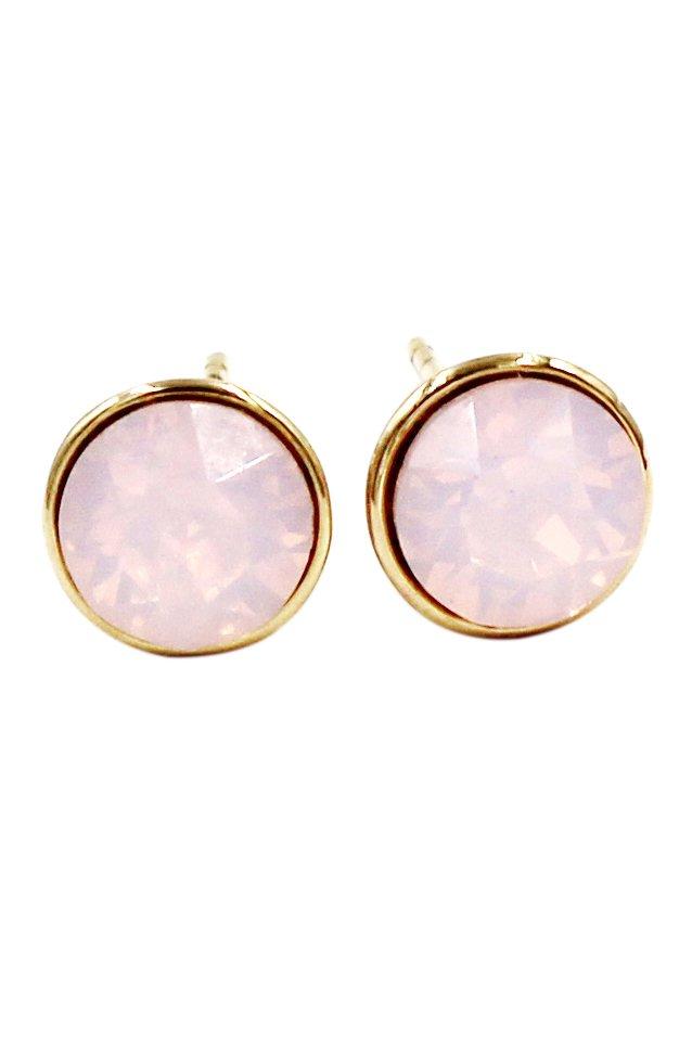 Simple pink crystal earrings