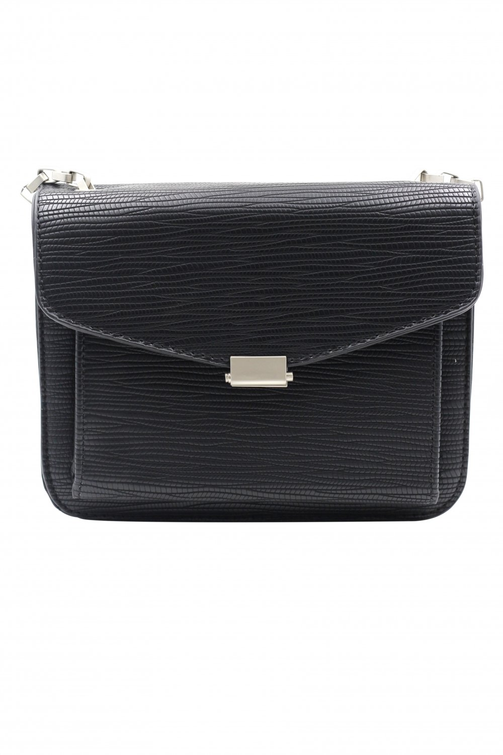 Small buckle leather black purses