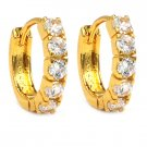 Mini crystal golden earrings