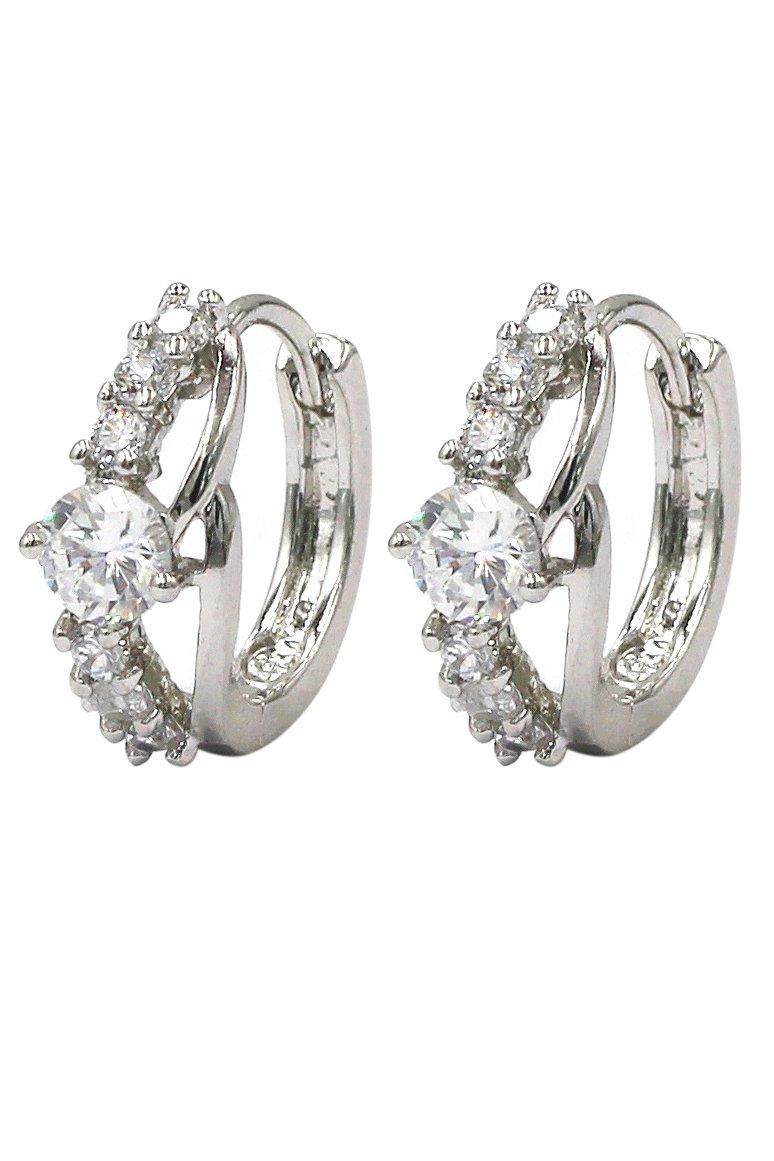 Lady crystal silver lovely earrings