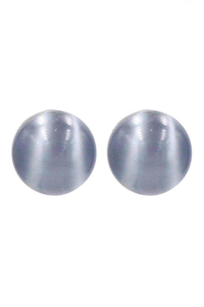 Fashion gray ball silver needle earrings