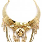 Elegant traditional exaggeration gold necklace