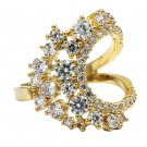 Noble special crystal gold ring