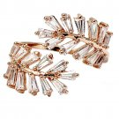 Fashion Crystal inclusive rose gold ring