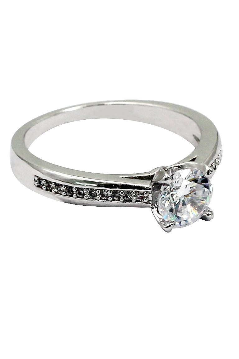 Fashion Lovely crystal silver ring
