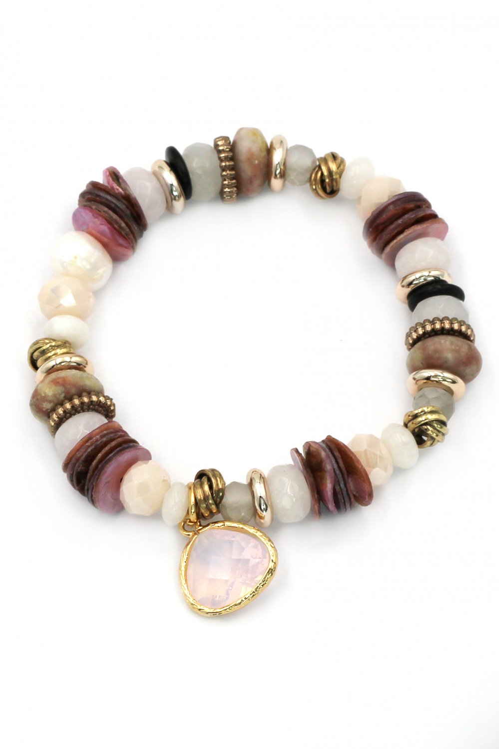 Colorful natural pink bracelet
