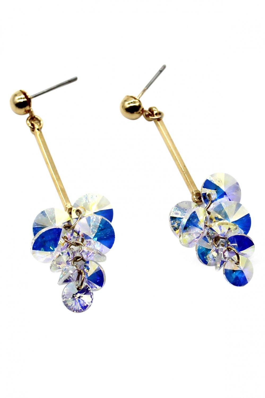 Pendant swarovski crystal gold earrings