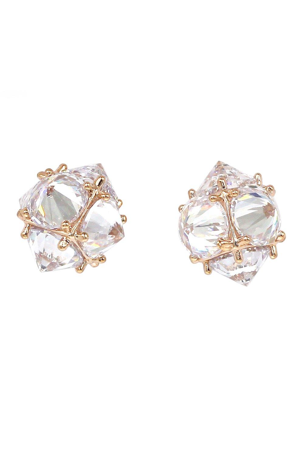 Sparkling sharp crystal earrings