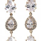 Shining pendant crystal gold earrings