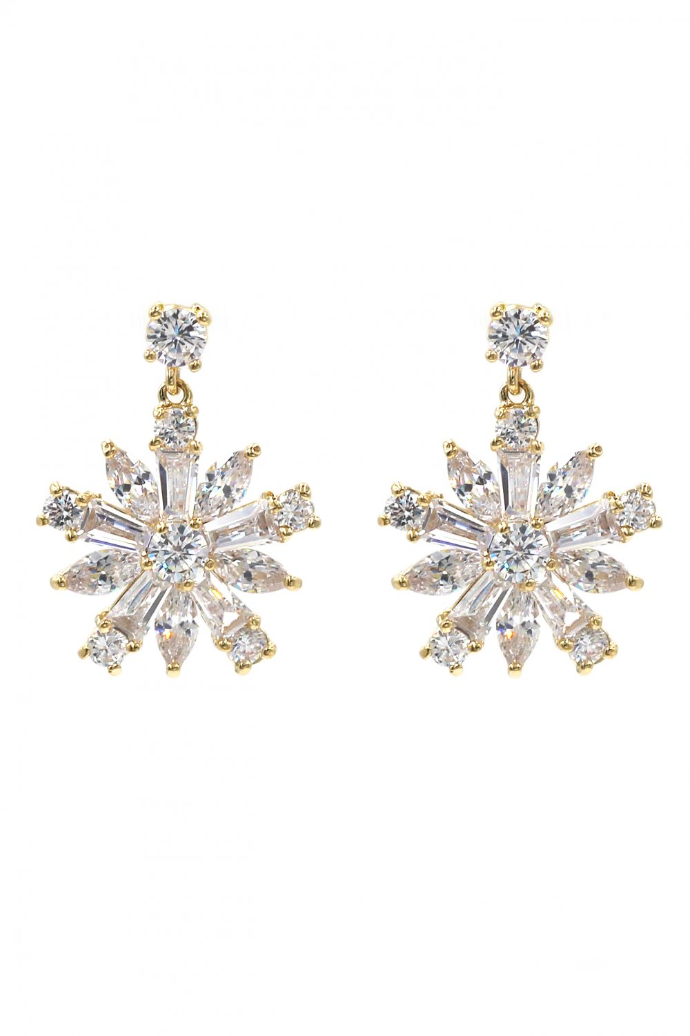 Fashion sparkling crystal gold earrings