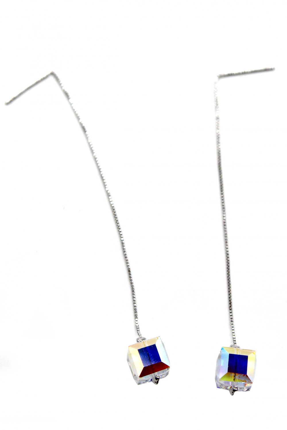 Swarovski square crystal earrings