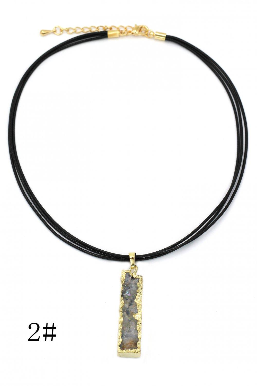 Fashion shiny original marble leather necklace 2#