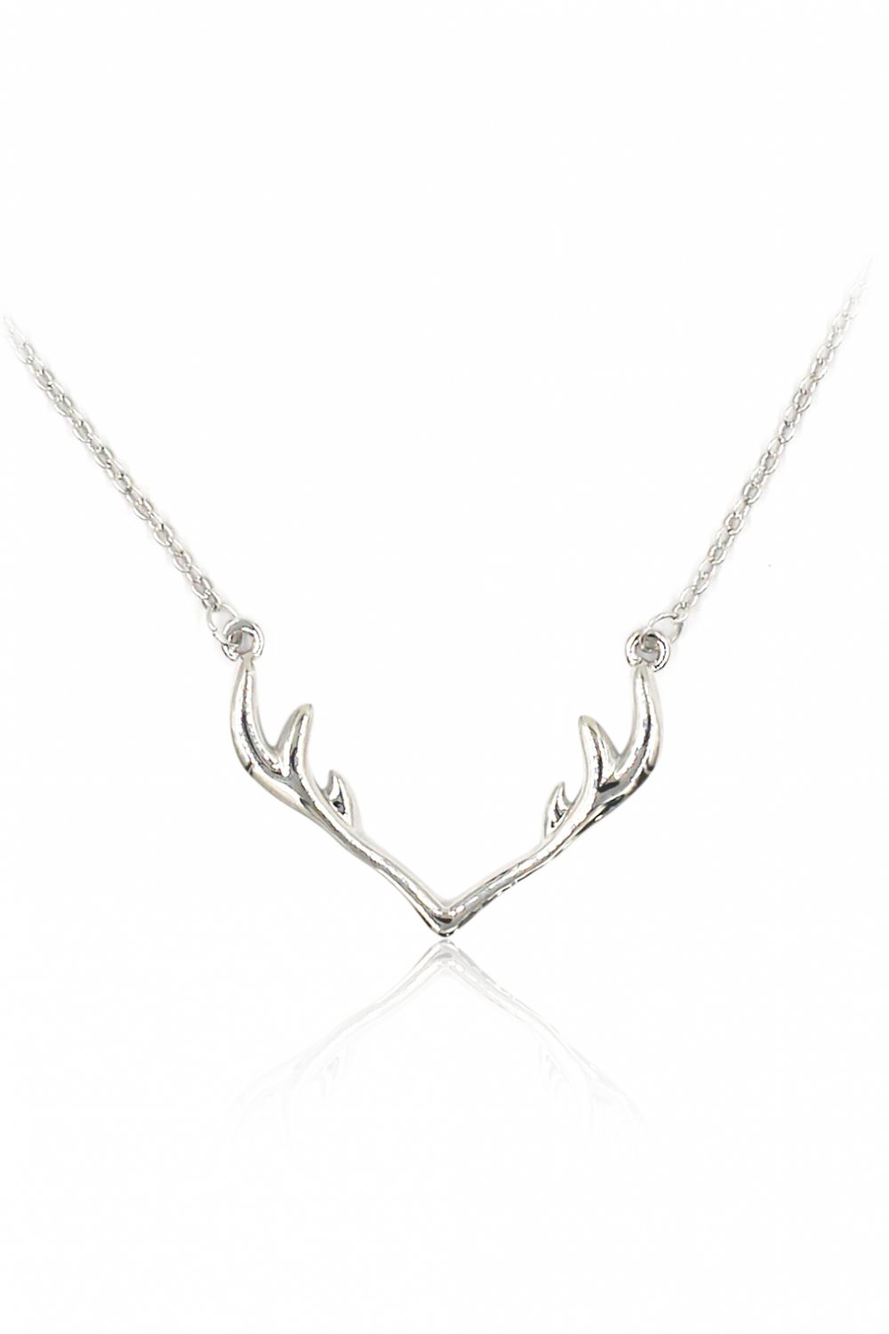 Fashion antlers clavicle silver necklace