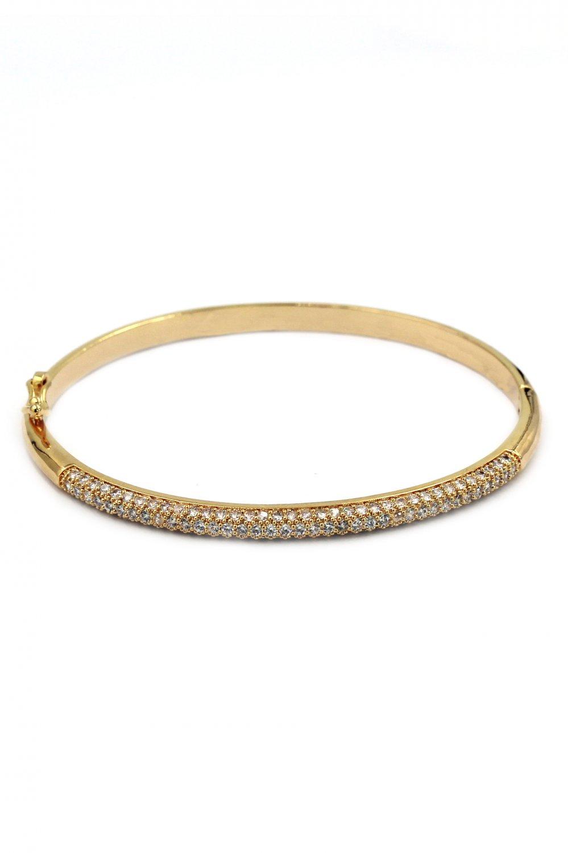 Fashion micro-small crystal gold bracelet